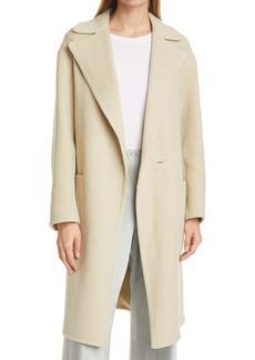 Vince Patch Pocket Belted Wool Blend Coat