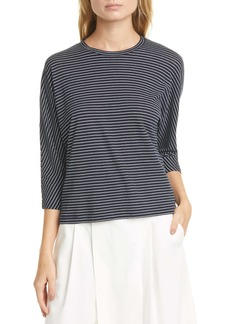 Vince Pencil Stripe Dolman Sleeve Cotton Top