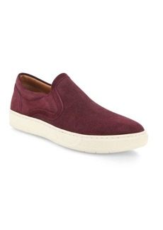 Vince Perforated Suede Slip-ons