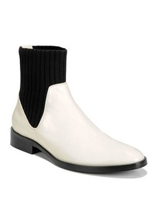Vince Perlow Leather Sock-Collar Boots