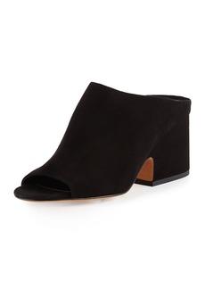 Vince Petra Suede Block-Heel Mule Sandal
