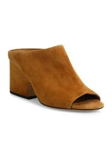 Vince Petra Suede Block Heel Mules