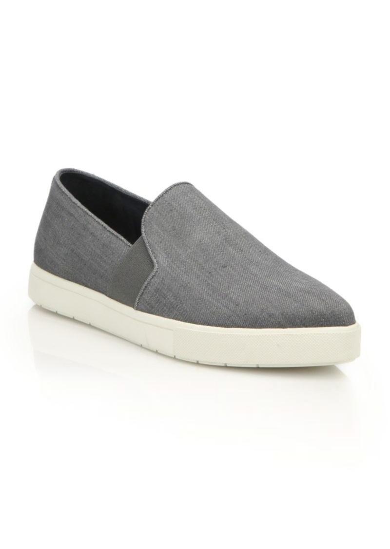 Vince Pierce Denim Point-Toe Skate Shoes