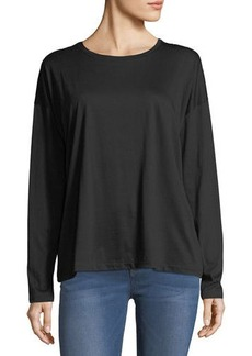 Vince Pima Cotton Long-Sleeve Crewneck T-Shirt