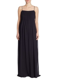 Vince Pintuck Silk Gown
