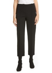 Vince Pintuck Stove Pipe Cotton Blend Trousers