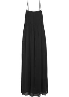 Vince Pintucked silk-chiffon maxi dress