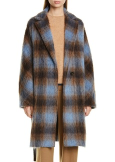 Vince Plaid Belted Wool & Alpaca Blend Coat