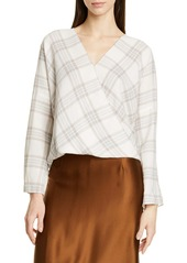 Vince Plaid Crossover Top