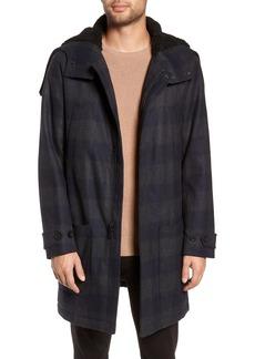 Vince Plaid Duffle Coat
