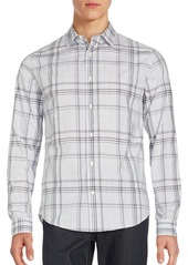Vince Plaid Long Sleeve Sportshirt