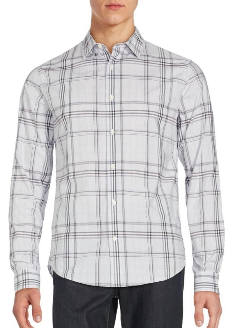 Vince Plaid Long Sleeve Sportshirt