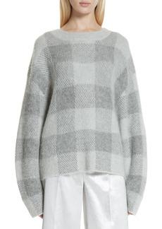 Vince Plaid Oversize Sweater