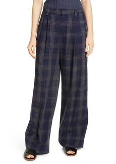 Vince Plaid Wide Leg Pants