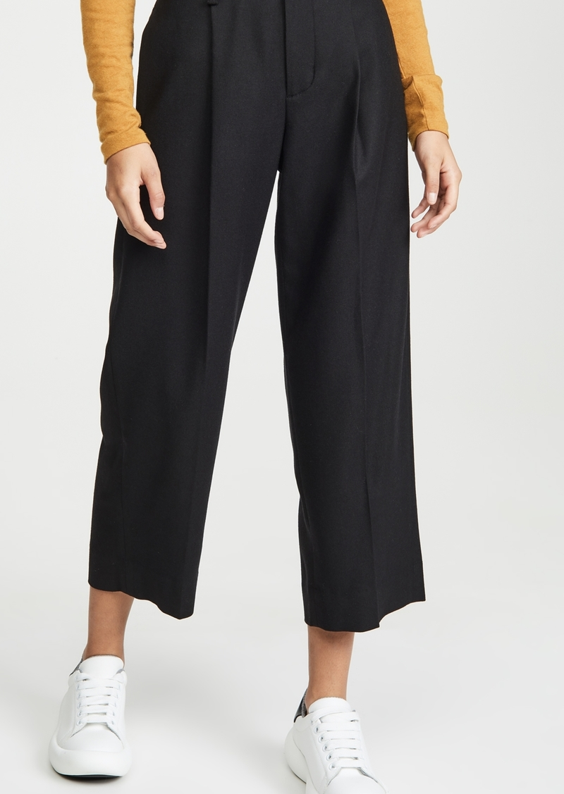 Vince Pleat Front Crop Pants