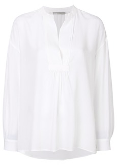 Vince pleated bib blouse - White