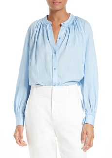 Vince Pleated Cotton Blouse