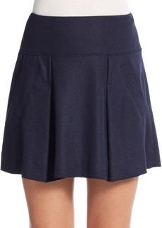 Vince Pleated Felt Skirt