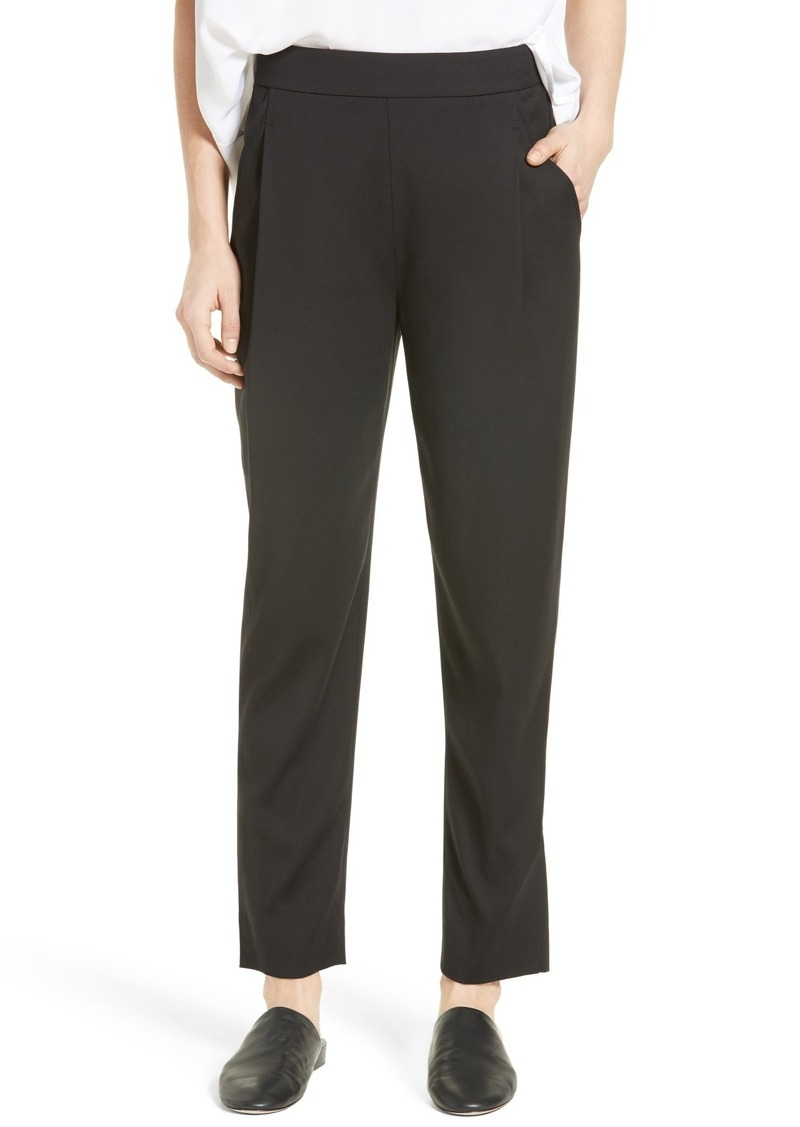 Vince Pleated Pull-On Track Trousers