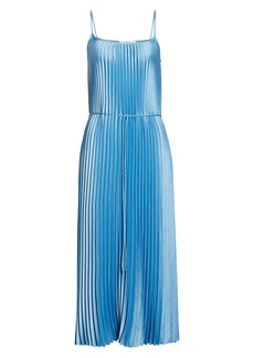 Vince Pleated Satin Slipdress