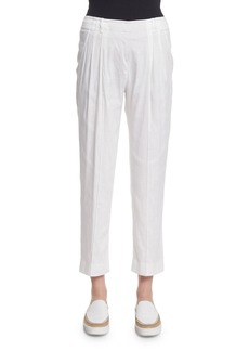 Vince Pleated Silk-Blend Trousers