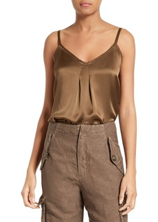 Vince Pleated Silk Camisole