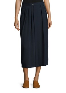 Vince Pleated Silk Culottes
