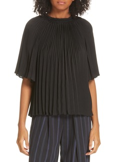 Vince Pleated Smocked Top