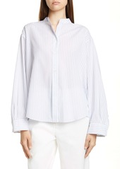 Vince Pleated Stripe Shirt