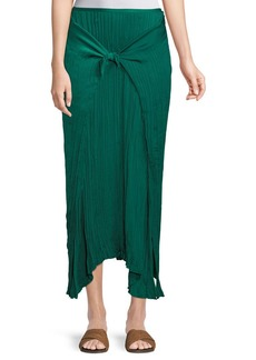 Vince Pleated Tie-Front Maxi Skirt
