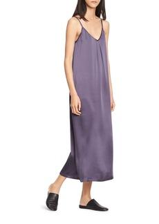 Vince Pleated V-Neck Slip Dress