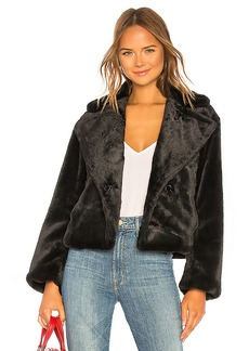 Vince Plush Faux Fur Coat