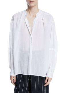Vince Poet Long-Sleeve Button-Front Blouse