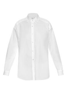 Vince Point-collar cotton-poplin shirt
