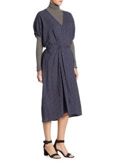 Polka Dot Kimono Wrap Dress