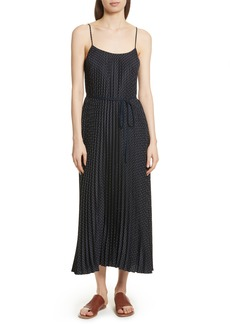 Vince Polka Dot Pleated Slipdress
