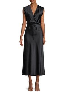 Vince Polka-Dot Silk Midi Dress