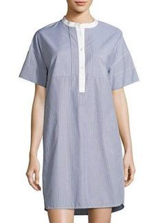 Vince Poplin Striped Shirtdress