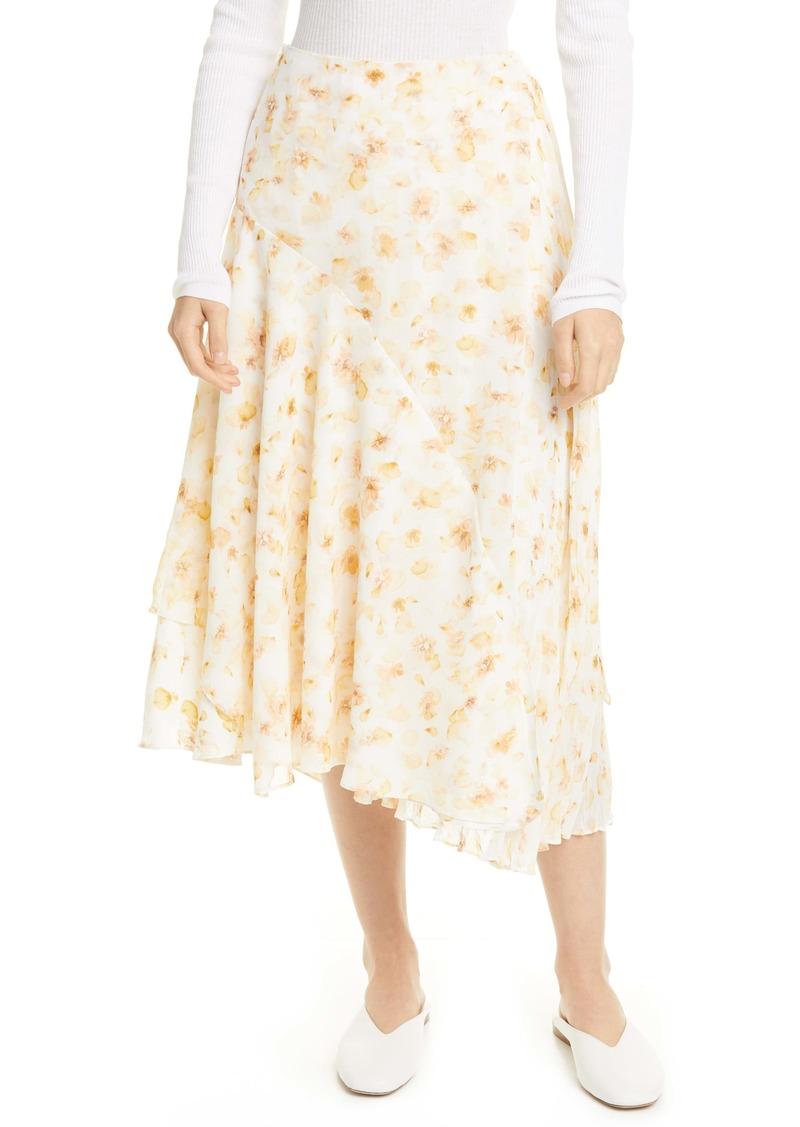 Vince Pressed Petal Asymmetrical Hem Skirt