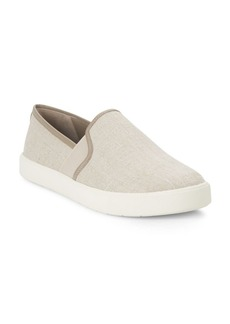 Vince Preston Linen Canvas Slip-On Sneakers