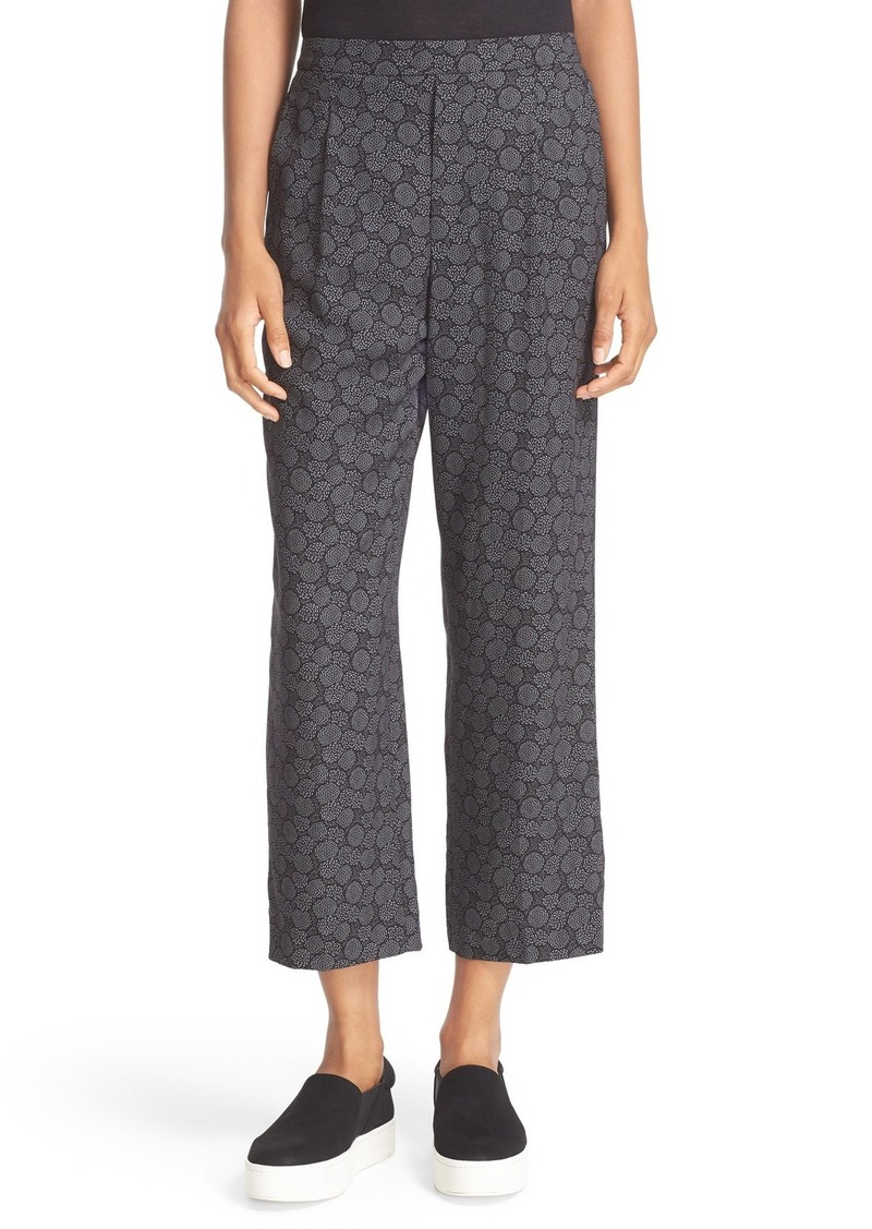 Vince Print Stretch Silk Lounge Pants