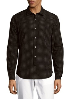 Vince Printed Cotton Button-Down Shirt