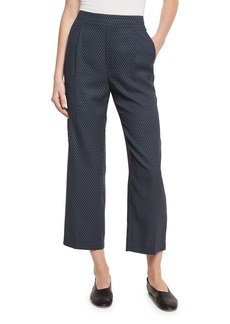 Vince Printed Silk-Blend Lounge Pants