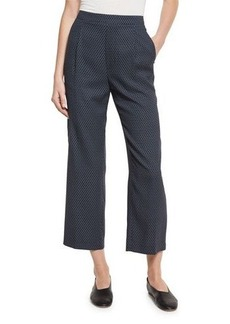 Vince Printed Silk-Blend Lounge Pants
