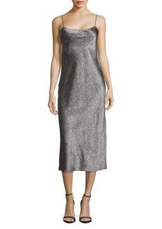 Vince Printed Silk Dress
