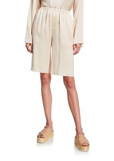 Vince Pull-On Silk Satin Shorts