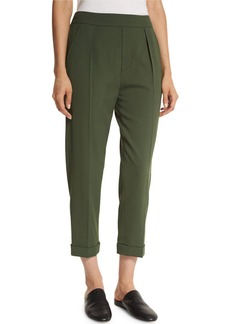 Vince Pull-On Tapered Cropped Trousers