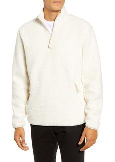 Vince Quarter Zip Faux Fur Pullover