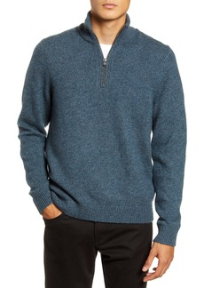 Vince Quarter Zip Marled Wool & Cashmere Sweater