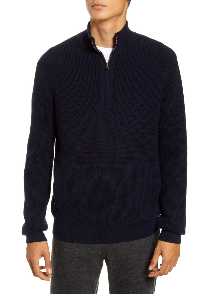 Vince Quarter Zip Thermal Sweater